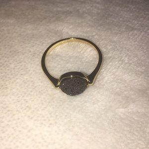 14k Gold Druzy Gem Ring